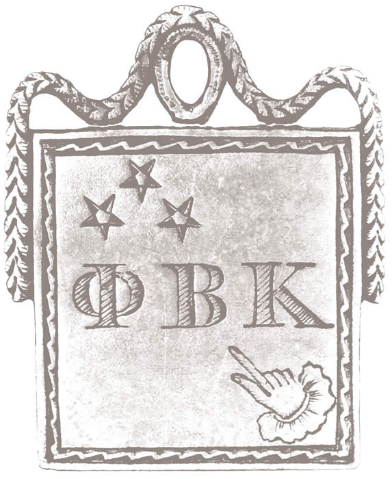 An original rendering of the Phi Beta Kappa key.